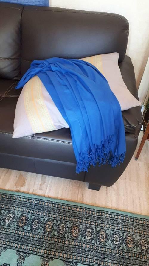 Écharpe d'homme bleue