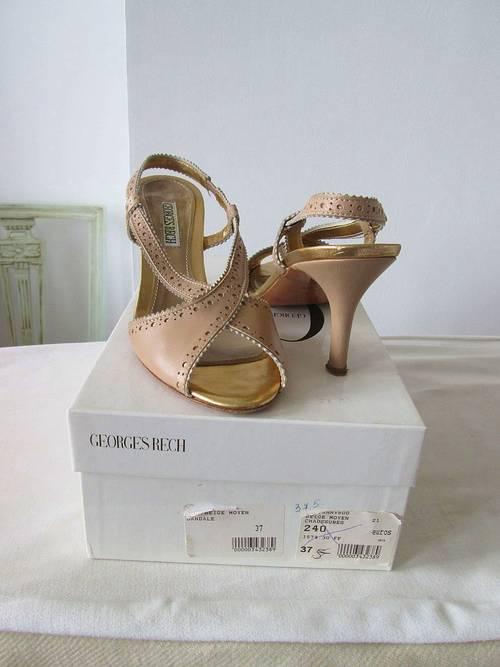 Elegantes sandales à talon, marque Georges Rech, P37,5