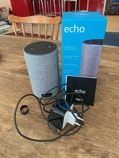 Enceinte Bluetooth Alexa Amazon Echo (2ème génération) - Gris