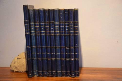 Vends bel ensemble de volumes reliés (revue Veillées des chaumières)