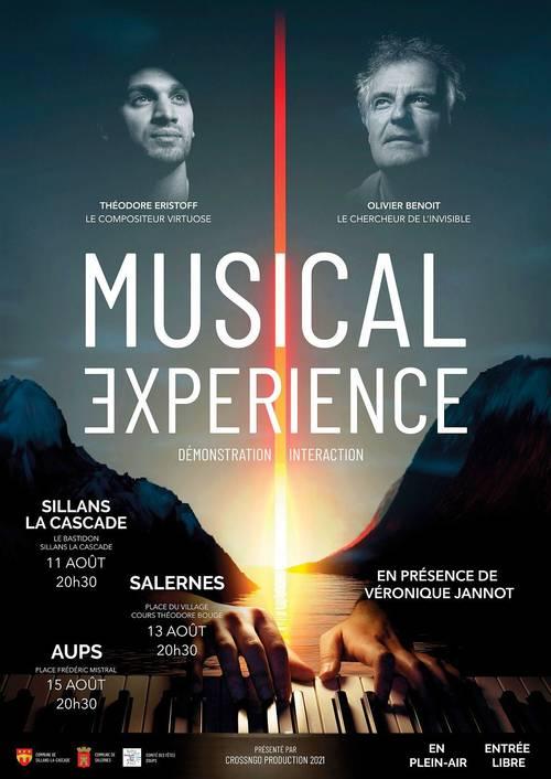 Expérience Musicale inédite et unique les 11-13ET 15Août dans le Var