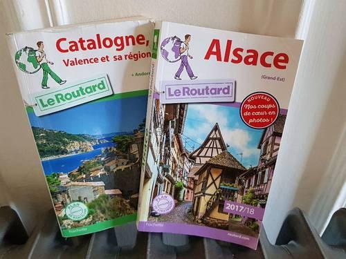 Vends Routard Catalogne et Routard Alsace