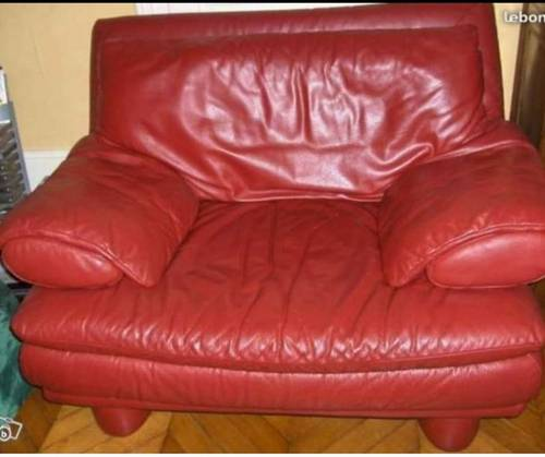 Fauteuil cuir comme neuf