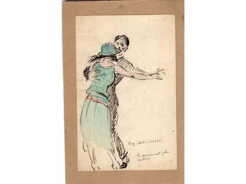 Dessin: couple de danseurs