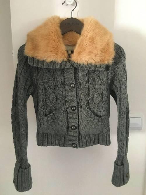 Gilet /cardigan gris en laine NANOS, T.10-12ans, Très bon état