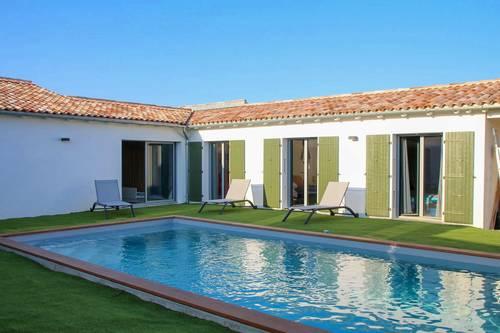 Loue villa neuve avec piscine 9couchages à Sainte Marie de Ré (17)