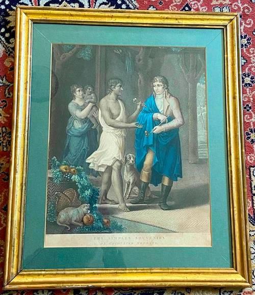 """Gravure Chaillou/Mariage """"Simples Souvenirs Bernardin de St Pierre XIX"""