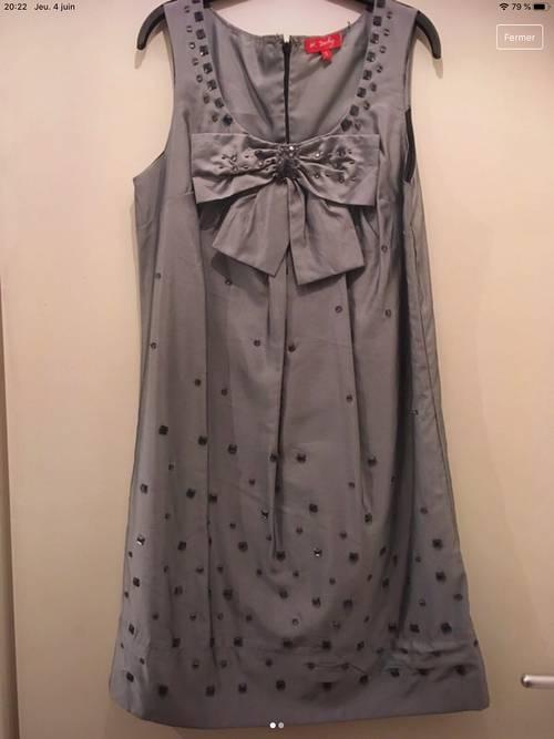 Robe grise taille S René Derhy