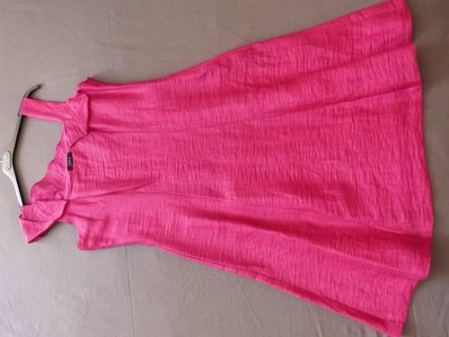 Robe habillée Rose Fuschia Zapa taille 40peu portée