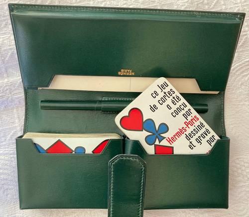 Hermès étui à cartes pour bridge années 60