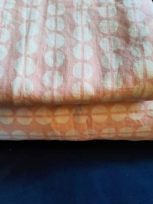 Lot Housse de couette 1P et oreiller assortie graphic blanc-rose pâle