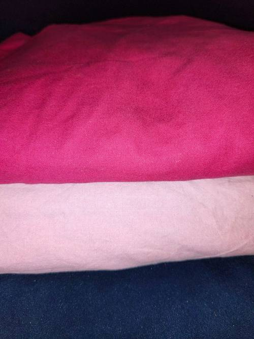 2housses de matelas 90/190: fushia et rose dégradé