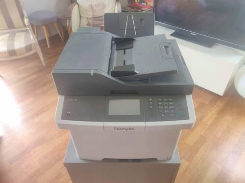 Imprimante Lexmark multifonction laser couleur CX417DE avec cartouches