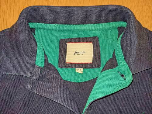 Polo Jacadi bleu marine à manches longues