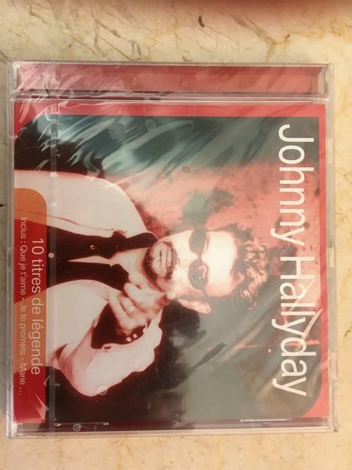 CD Johnny Hallyday 10titres de légende