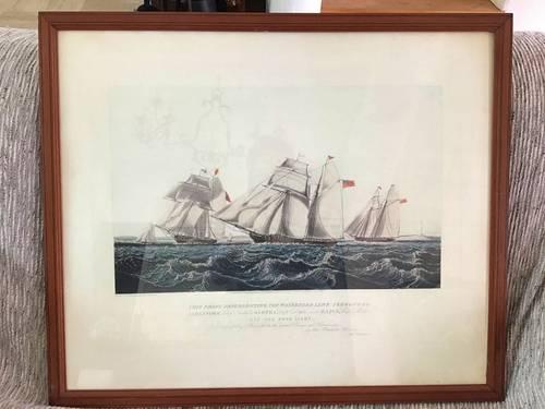 Jolie lithographie marine