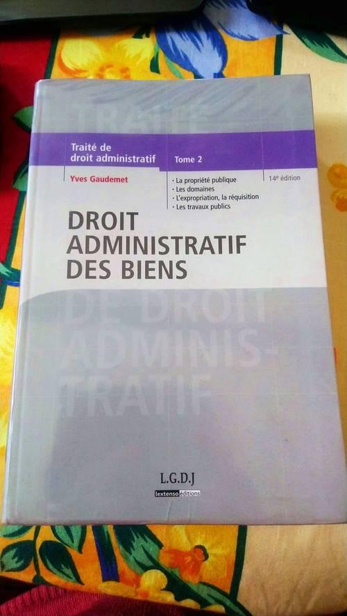 Livre Droit Administratif des Biens - Yves Gaudemet