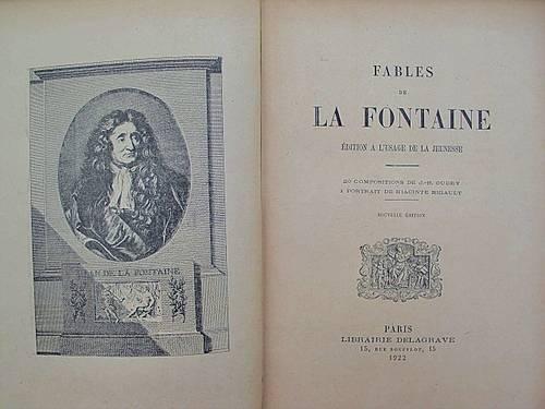 """Vends Livre: Edition ancienne """"Les Fables """" de La Fontaine"""