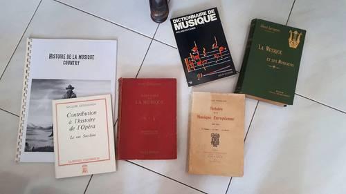 Lot de livres sur la Musique