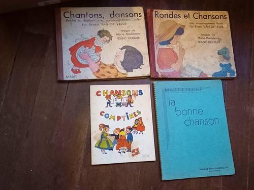 4Livres anciens enfants Comptines Rondes et Chansons