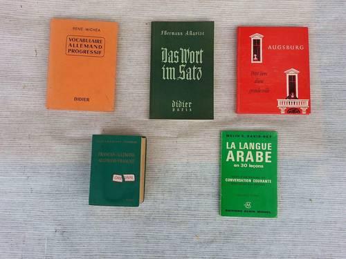 Propose dictionnaires et ouvrages de vocabulaire: Français, anglais, allemand