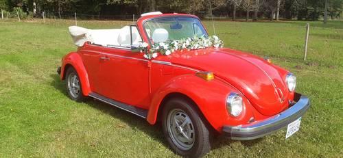 Loue Volkswagen Coccinelle cabriolet decapotable pour mariage - 1979, 100km