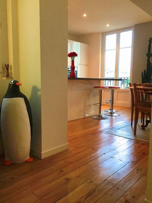 Loue appart familialhyper-centre Biarritz (64) : 4couchages, 2chambres