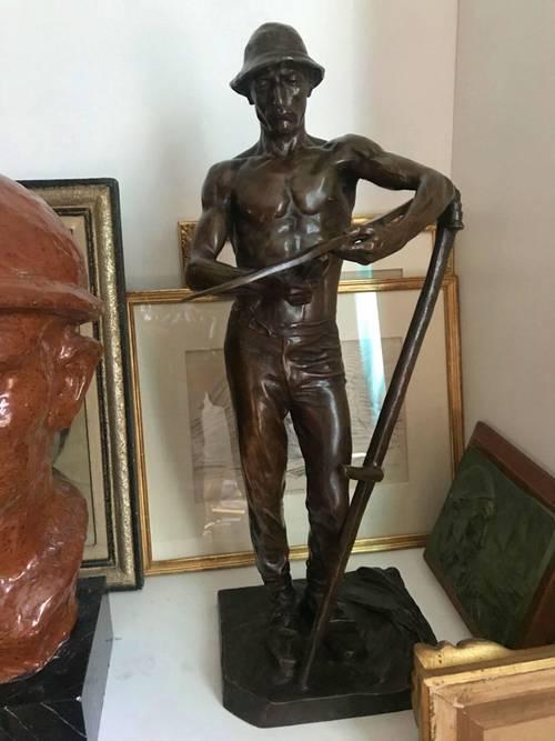 Magnifique bronze d'Henri Bouchard, Le Faucheur (1904), Susse Frères