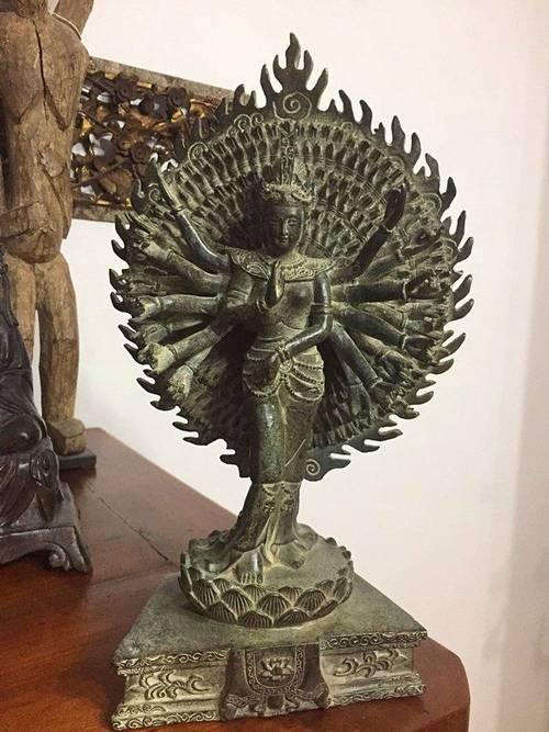 Magnifique objet décoration bronze asiatique