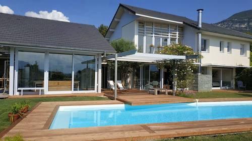 Loue maison d'architecte 220m² 4chambres 4sdb 8couchages - piscine 12m - Chambéry - Saint-Jeoire-Prieuré (73)