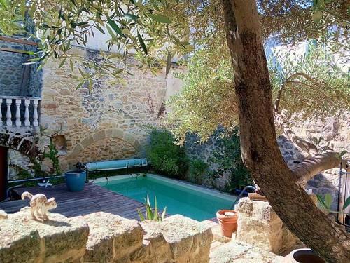 Loue maison ancienne 100m² à Montbazin (34), avec petite piscine - 2chambres5couchages