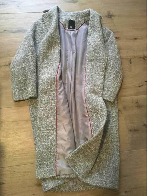 Manteau gris chiné