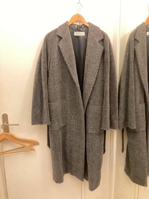 Long manteau laine alpaga et mohair T42
