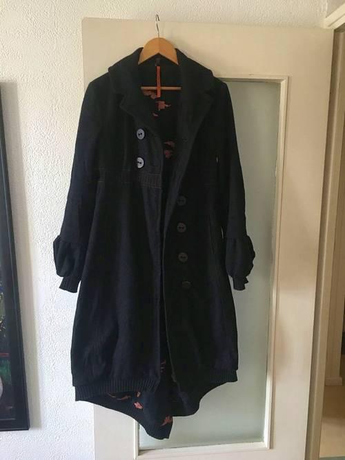 Long Manteau Laine, dos en queue de Pie, Cop Copine, taille 40