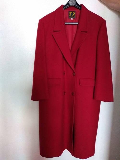 Manteau rouge femme taille 48