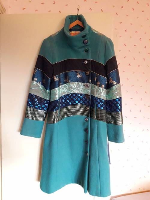 Manteau turquoise Desigual taille 38