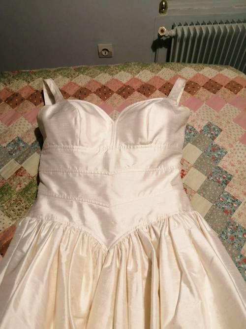 Robe de mariée soie sauvage