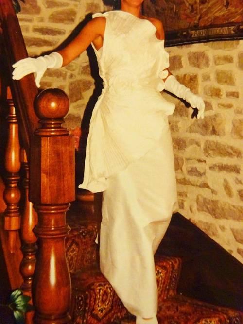 Robe de mariée en soie sauvage taille 40