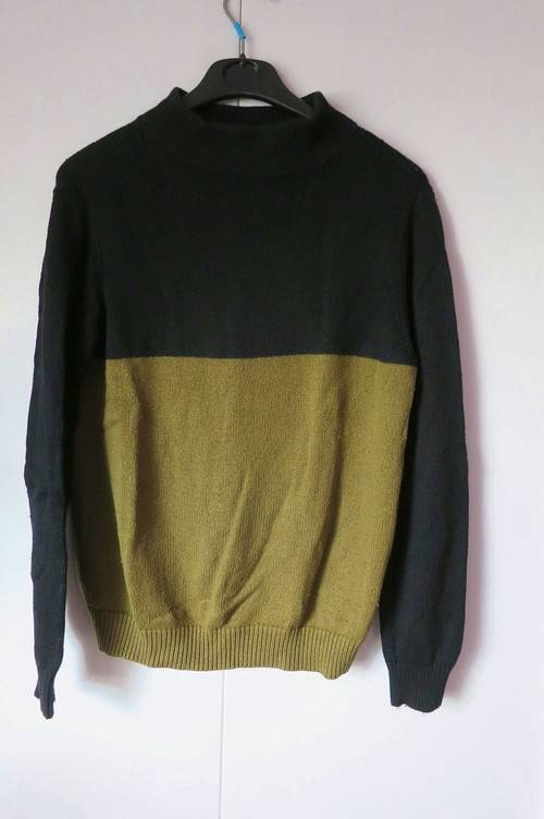 Vends pull marron/olive - Taille M - Mango