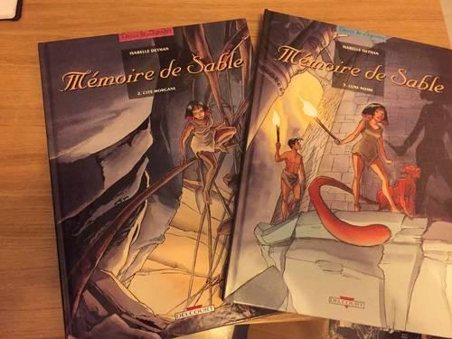 BD Mémoires de sable de I. Déthan ed delcourt T2et 3
