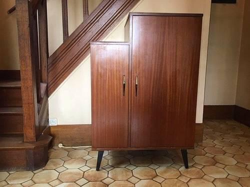 Meuble frigo original et rare années 60