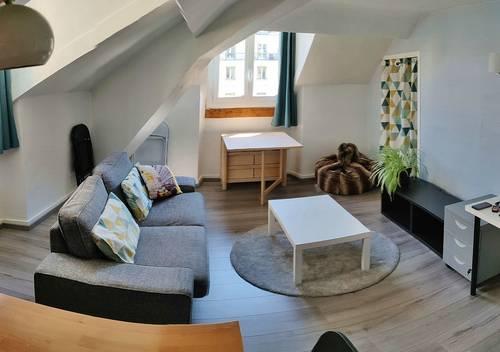 Loue F2, 40m², meublé, Grenoble (Alsace-Lorraine),idéal étudiant