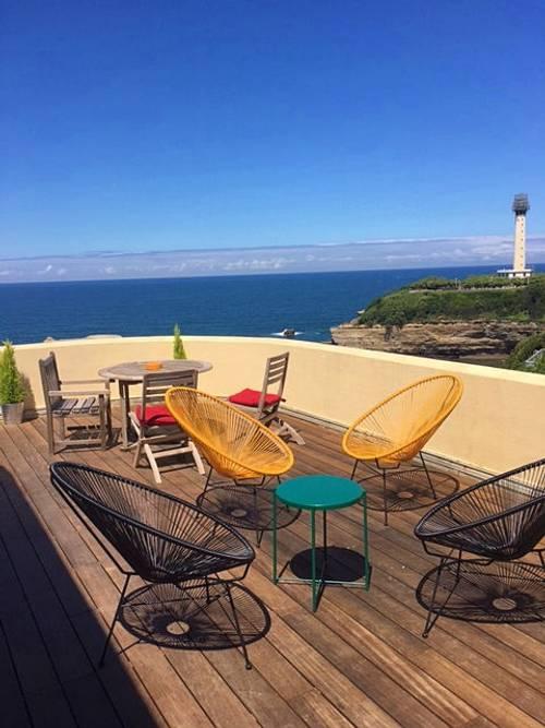 Loue Charmant duplex Biarritz + Terrasse 35m² face à l'océan 3couchages (64)