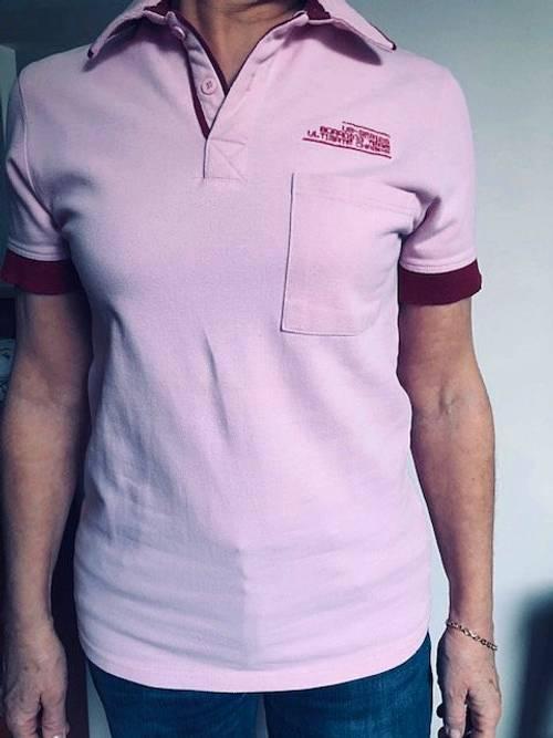 Polo 4YOU mixte rose S coton parfait état