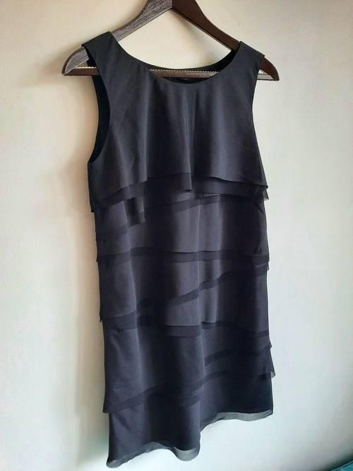 Robe IKKS noire fluide neuve, taille 36