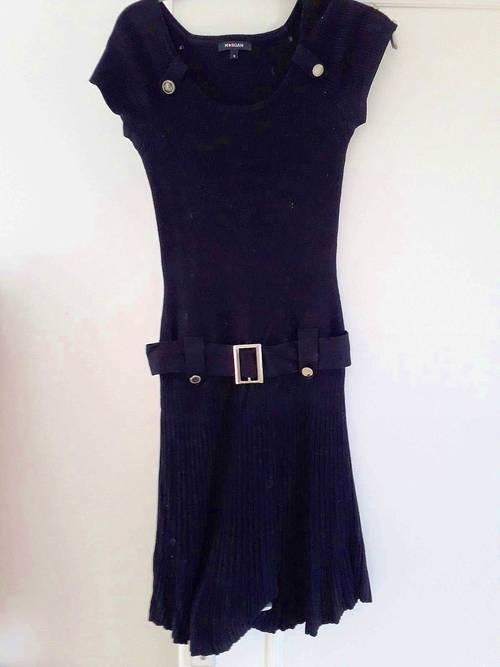 Robe noire en laine mélangée Mango T 38bon état
