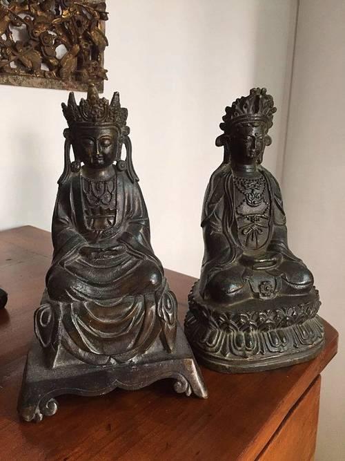 Objet décoration bronze asiatique (paire)