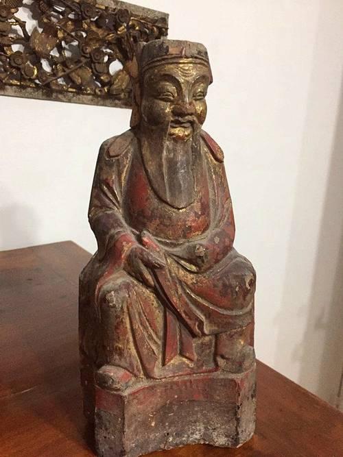 Objet décoration chinois ancien statuette
