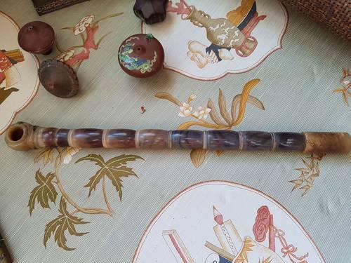 Pipe à opium en corne de buffle