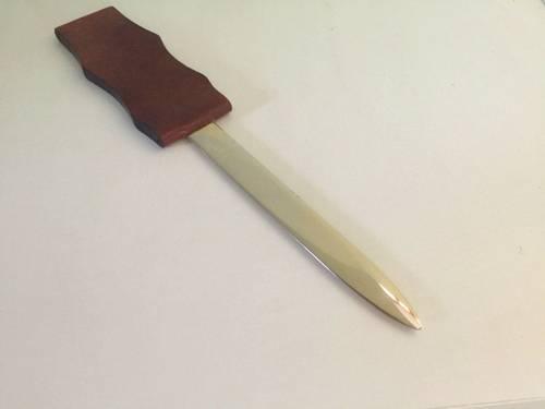 Ouvre-lettre Coupe-papier cuir de kangourou